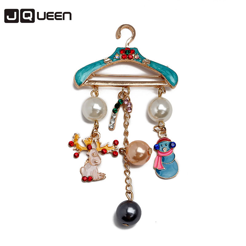 Alloy Clothes Hanger Brooch Christmas Gift Enamel Pins Kids Women Accessory for Sweater Coat