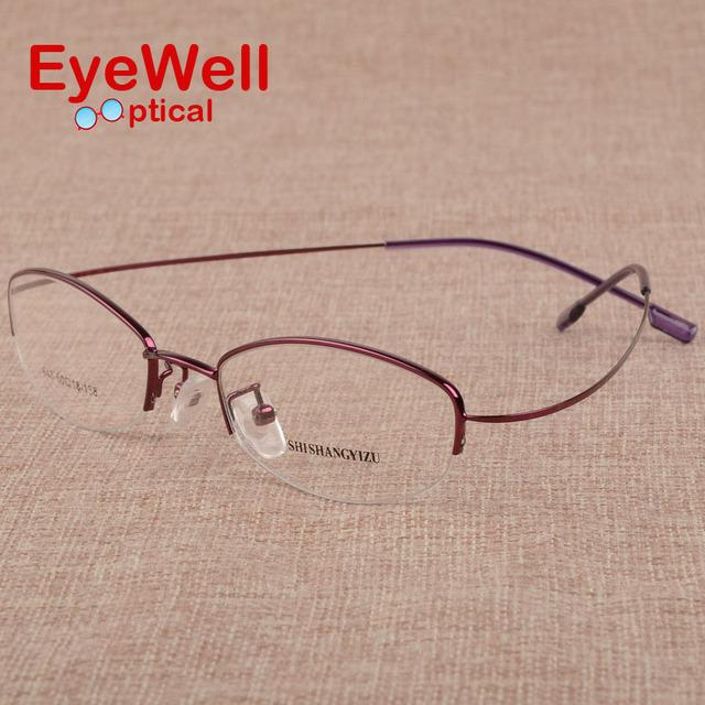 Das mulheres ultra-leve miopia ou presbiopia óculos quadros sem moldura liga de memória armações de óculos de metal frame ótico S643