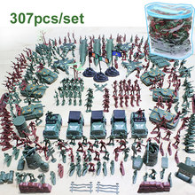 307pcs/lot Military Plastic Soldiers Army Toy Model for Boy Action Figures Decor Play set Model Toys For Children Christmas gift
