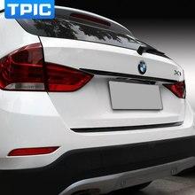 Для BMW X1 E84 2011- карбоновая накладка на заднюю крышку багажника, накладка на задний багажник, наклейка, автомобильные аксессуары, Стайлинг автомобиля