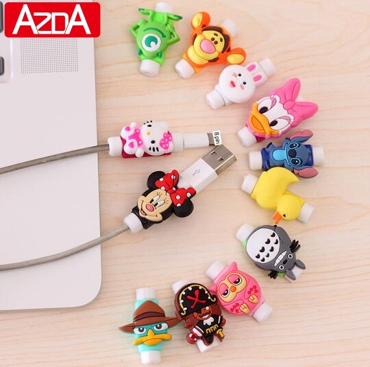 Cartoon Protector Cable Cord Saver Cover Coque For Cable font b iPhone b font 8 4