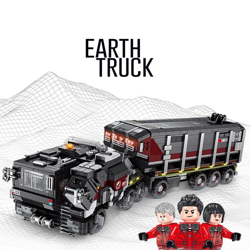 2215pcs Boys Education Building Blocks Earth Truck Compatible Legoings Military Technic City Flint Carrier Car Figures Bricks