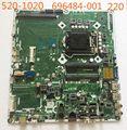 696484-001 para hp touchsmart 520 520-1020 omni 220 motherboard 705028-001 mainboard h61 lga1155 ipisb-nk 100% totalmente testado trabalho