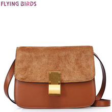 FLYING BIRDS genuine leather bag luxury famous brands women handbags designer bolsas messenger bags summer style pouch A827fb