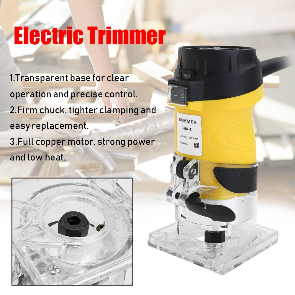 Multifonctionnel pratique 600 W 30000r/min ABS tondeuse électrique bois routeur 6.35mm travail du bois coupe coupe outils électriques - 5