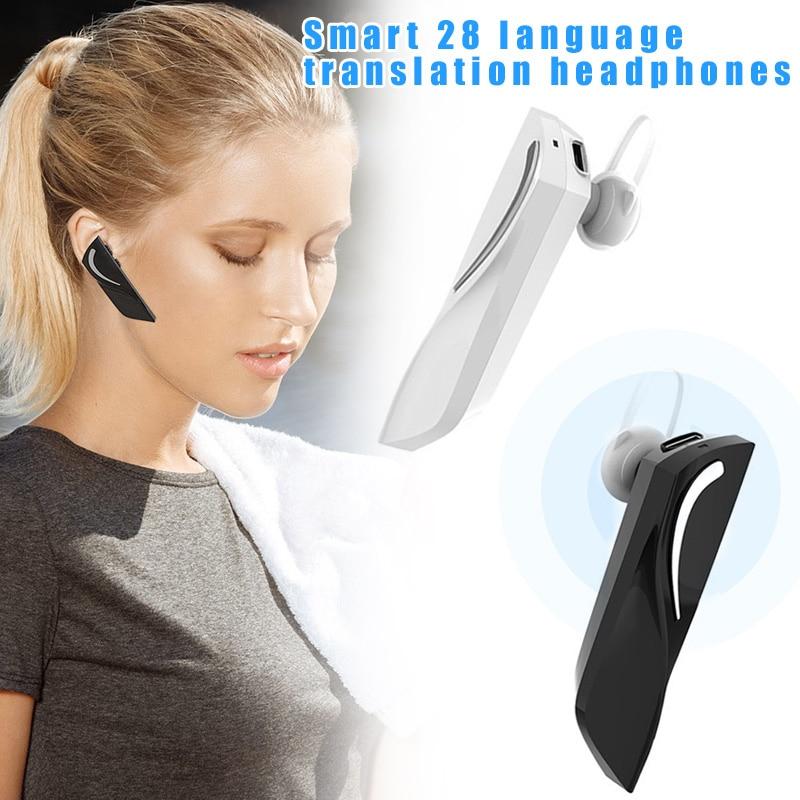 Smart 28 Language Translator Device Instant Portable Bluetooth Earphone Voice Translation Device GDeals