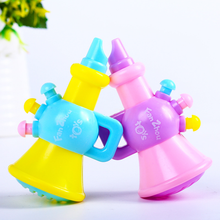 1 pcs cute Colorful plastic Trumpet Buglet Hooter Bugle Educational Baby Children Toy Musical Instrument Random Color
