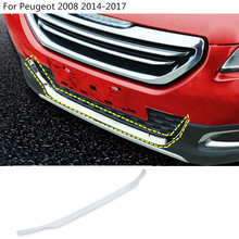 car body bumper engine protection trim Front bottom Grid Grill Grille edge panel 1pcs For Peugeot 2008 2014 2015 2016 2017