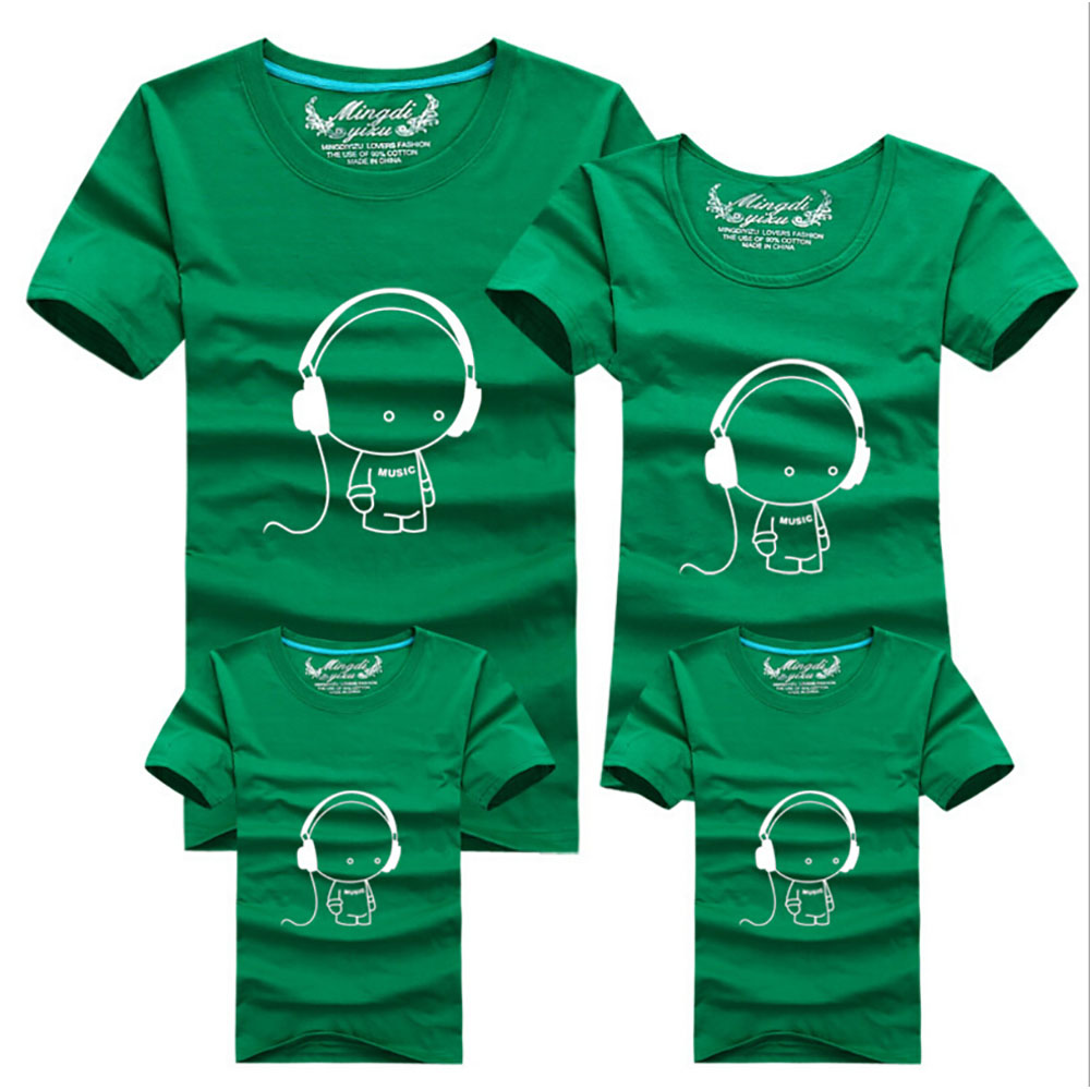 2016 New Family Look Headset T Shirts 9 Colors Summer Family ...