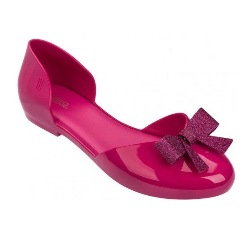 Mini Beleza Mulher Bowtie Sandálias Da Geléia de Melissa 2018 Mãe Verão Sapatos Meninas Sandálias Melissa Geléia Das Mulheres Sapatos Sandálias Macias