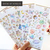 Pegasus Unicorn Castle Label Stickers Set Decorative Stationery Craft Stickers Scrapbooking DIY Diary Album Stick Label