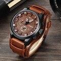 Curren mens relógios top marca de luxo relógios de pulso masculino relógio ocasional de couro dos homens analógico quartz militar assista relogio masculino