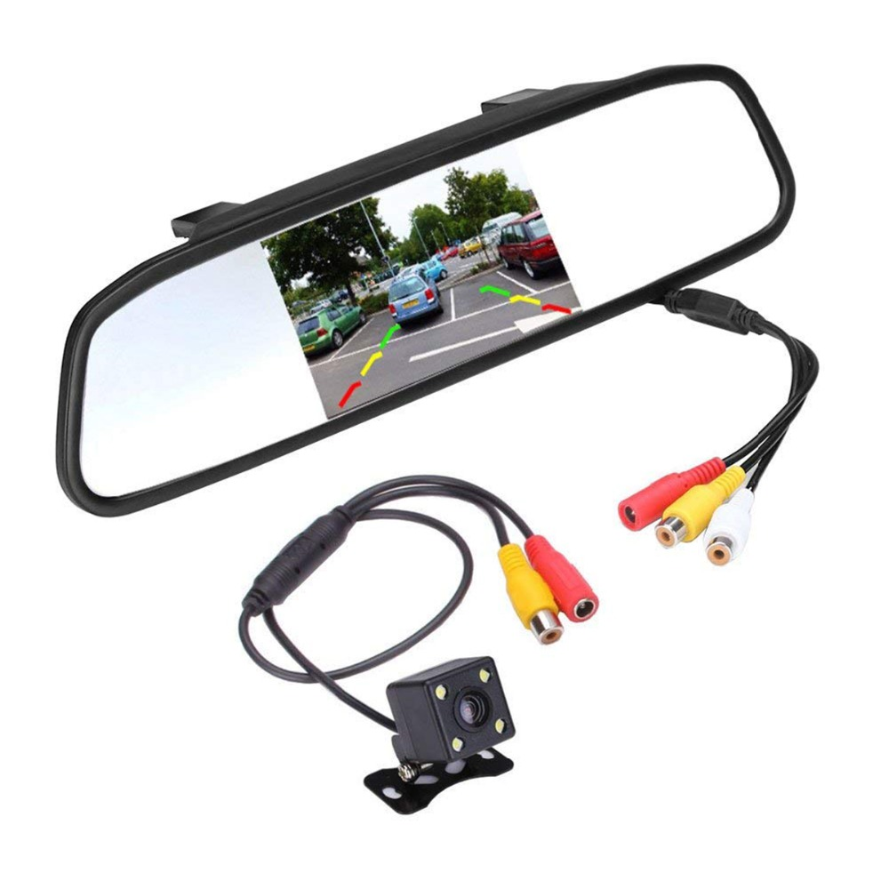 Super Mini Backup Camera With 4.3 Car TFT LCD Mirror Monitor Night Vision Waterproof Parking Reverse System Assembly