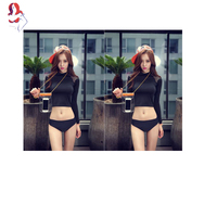 UCHIHA LQ Sexy Two Piece Swim Suits Breathable Fabric Can Be Worn Out Sports Suit Women