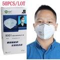 50 unids/lote Prevenir neblina niebla plegable antivaho máscara de polvo Industrial Ciclismo máscara de humo a prueba de máscara de respiración de protección Laboral