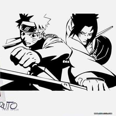 Naruto Sasuke Naruto Animasi Karakter Kartun Stiker Dapat Menghapus Wallpaper Di Kamar Tidur.jpg q50