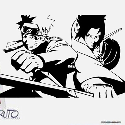 Naruto sasuke naruto animasi karakter kartun stiker dapat menghapus wallpaper di kamar tidur