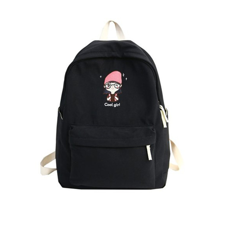 Black Backpack Brand High Qulity Oxford School Bag for Teenage Girls Water poof Lightweight Leisure Or TraveL Bag Fresh Package in School Bags from Luggage Bags