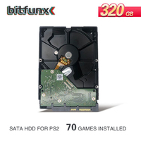Bitfunx 320GB 3.5 SATA Internal Hard Drive for PS2 with 70 games installed used HDD one year warranty