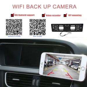 Image 2 - Car DVR Wireless Reverse Rear View Backup Parking Camera Vehicle Auto Security Camera Night Vision HD Camera EU License Plate