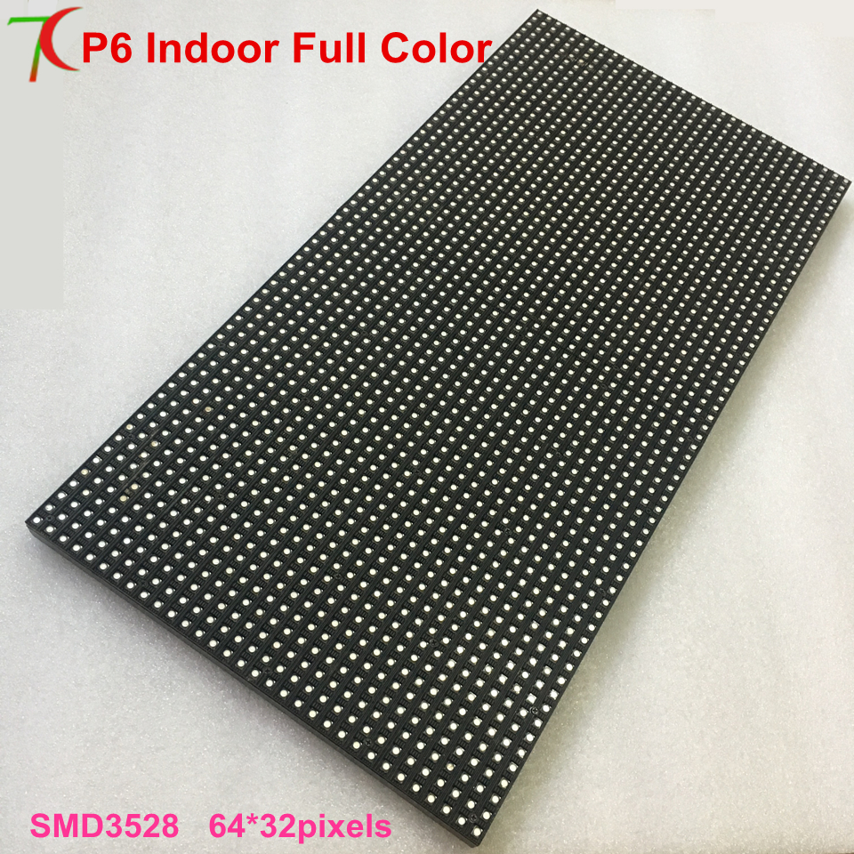 Customizable 384mm*192mm P6 Indoor  Full Color Led Module Led Panel Led Display