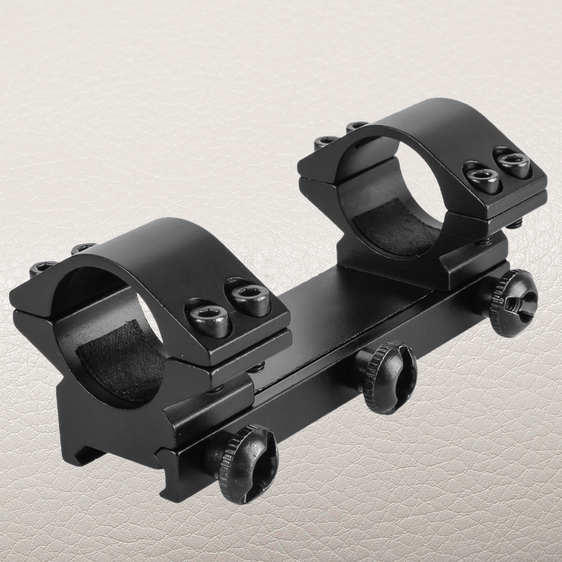 FIRE WOLF 1 Inch One Piece Dual Scope Mount Low Profile 25.4mm Rings fit 20mm Rail Rifle Scope Mount
