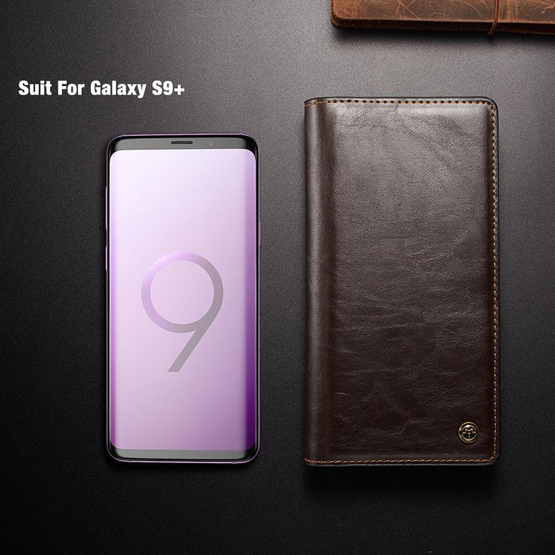 Funda de cuero para Samsung Galaxy A8 2018 S9 S8 Plus Funda Cartera - Accesorios y repuestos para celulares - foto 6