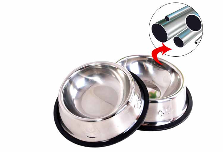Stainless Steel Dog Feeders Pet Utensils Dog Bowl for Dogs Puppy Food Bowl Durable and Antiskid 6 sizes Pets Products Accessories Wholesale2
