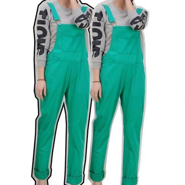 jumpsuit 2016 overalls Cotton candy color fashion plus size Full Length Denim Jeans Jumpsuit