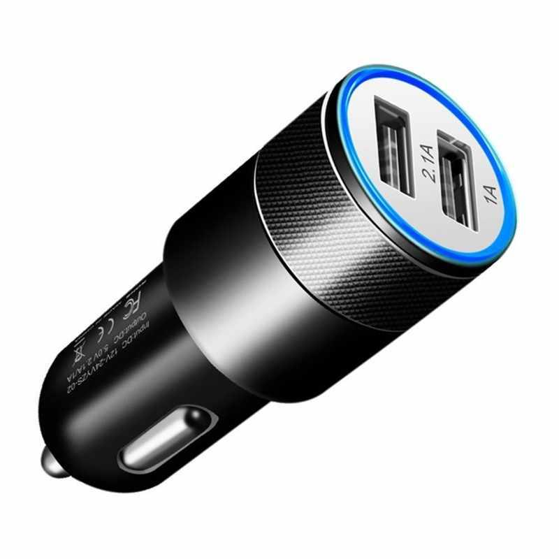 Dual USB Mobil SUV Charger untuk OnePlus 5 T 7 6 T 6 5 T 5 3 T 3 2 xiaomi 9 Redmi Note 7 6 5 Kehormatan 10 9 Lite 8 Adaptor Charger Cargador