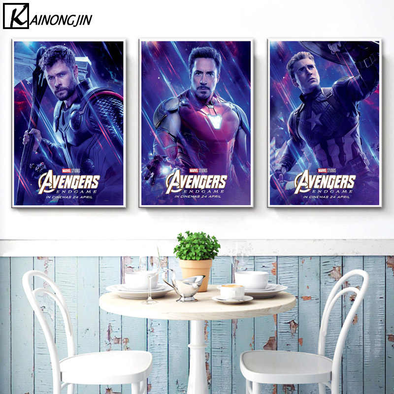 Art Poster Avengers EndGame Marvel Poster End Game Marvel Movie Posters and Prints Wall Picture Canvas Painting Home Decoration