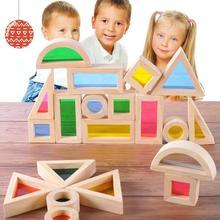 24 шт. новая деревянная башня из твердой древесины строительные блоки игрушка укладчик экстракт здание образовательная игра для детей Образование подарок для детей