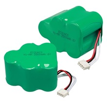 2Pieces Anmas Power  NI-MH 6V 3500mAh Rechargeable Battery For Ecovacs 650/680/710/720/730/760/T71