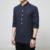 Longa-camisa de mangas compridas casuais dos homens de Moda estilo Chinês bordado M Longa Camisa de Algodão colarinho da camisa dos homens espessamento