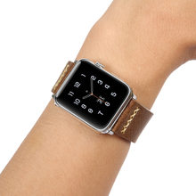 FOLOME  Elegant  genuine cow Leather watchbands for Apple series 1 /2