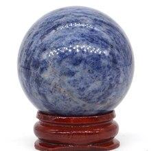 Natural Blue Sodalite Stone Ball Mineral Quartz Sphere Hand Massage Crystal Ball Healing Feng Shui Home Decor Accessory 40mm opalite stone ball mineral quartz sphere hand massage crystal ball healing feng shui home decor accessory 40mm