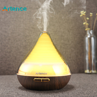 High Quality 300ml Transparent Essential Oil Aromatherapy Diffuser Ultrasonic Humidifier For Home Office Yoga 7 Colors