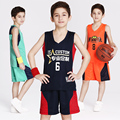 2017 New Reversible Kids Basketball Jerseys Uniforms Both Side Children Team Tracksuits Boy Trainning Shirt & Shorts Sets Custom
