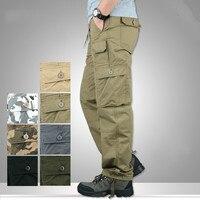Bahar Sonbahar Hafif Çok Cep Militar Taktik Kargo Pantolon Erkekler Savaş Ordu Askeri Pantolon Joggers Pamuk Adam Pantolon