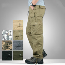 Spring Autumn Lightweight Multi Pocket Militar Tactical Cargo Pants Men Combat Army Military Pants Joggers Cotton Man Trousers