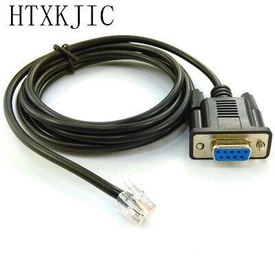 RS232 a RJ11 cable conector de cable líneas negro 6p6c RJ11 rj12 RJ45 rj25 RJ9 para router consola cable 8p8c 6P4C