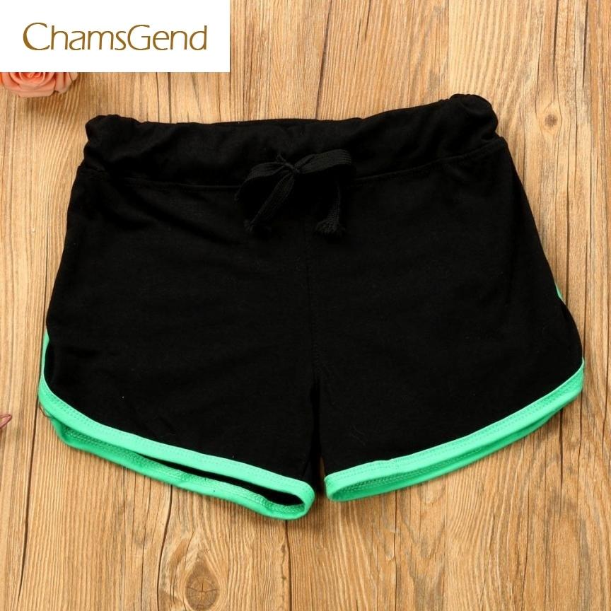CHAMSGEND 2017 New Fashion Summer Women  Shorts Workout Waistband Skinny  Elastic Shorts MAY17