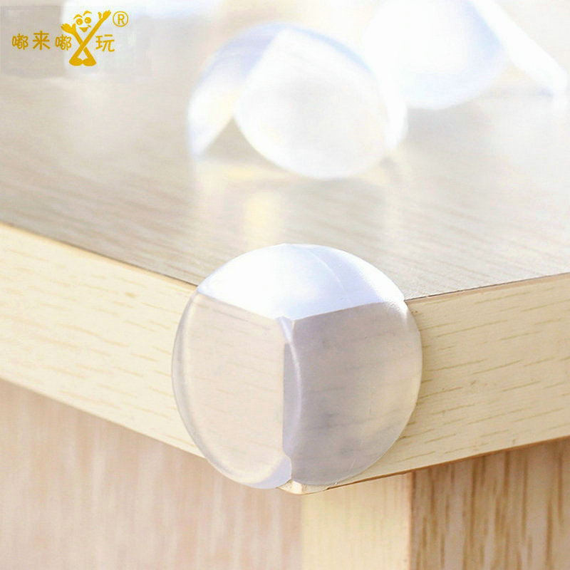 [Sashine] 4Pcs/Lot Child Baby Safety Protector Corner Guards Table Corner Edge Silicone Protection Cover Children Edge SAD-4015