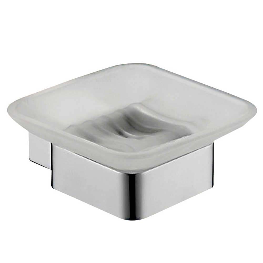 Uchwyt na mydelniczkę ze szkłem SUS 304 ze stali nierdzewnej łazienka nowoczesne gładkie lustro kwadratowe mydelniczka zestaw akcesoria łazienkowe