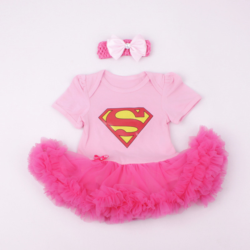 купить Christmas Baby Girl Romper 2pcs Sets Tutu Romper Dress Jumpersuit+headband Halloween Party Birthday Superhero Elsa cosplay 0-1Y по цене 568.17 рублей