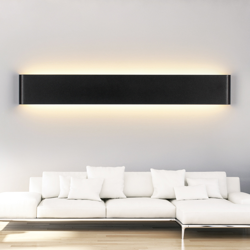 Modern style bedroom wall lamps 30w 91cm long white black color aeproducttsubject mozeypictures Gallery