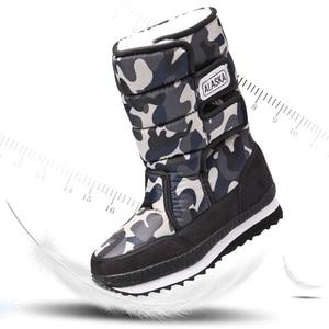 Image 2 - Buty dziecięce chłopcy śniegowe buty dziewczęce sportowe dziecięce buty dla chłopców trampki modne skórzane buty dziecięce buty dziecięce 2019 zimowe