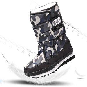 Image 2 - Kinderen Laarzen Jongens Snowboots Meisjes Sport Kinderen Schoenen Voor Jongens Sneakers Mode Lederen Kind Schoenen Kinderen Laarzen 2019 Winter