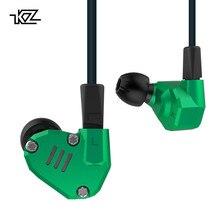 KZ ZS6 Verde 2DD + 2BA Híbrido Em Fones de Ouvido de ALTA FIDELIDADE Fones de ouvido de Metal fone de Ouvido Bluetooth Destacável Cabo de Atualização 4 Motoristas fones de ouvido