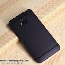 Alta qualidade pure color slim fit flexível tpu caso capa para o htc one m7, grátis drop shipping